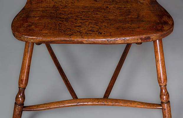 Windsor chair by Gillows of Lancaster and London, c. 1790. Ash with  sycamore seat. Courtesy Michael Pashby Antiques. - Curious Objects: Secret History Of A Windsor Chair - The Magazine