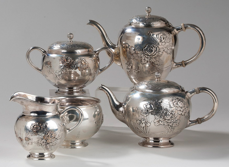 Decorative Collectibles Imported From Abroad Decor Art Russia Silver Set Of Four Items.