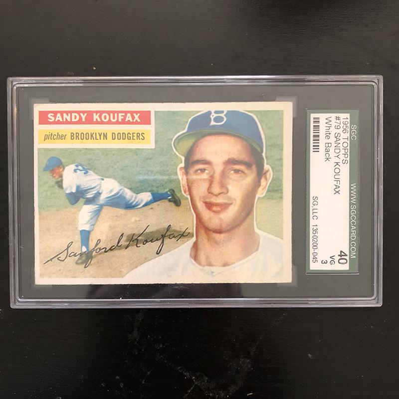 Sandy Koufax Topps baseball card 1956