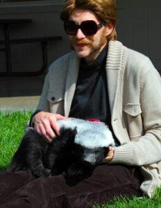 Randall chilling with honey badger Diablo