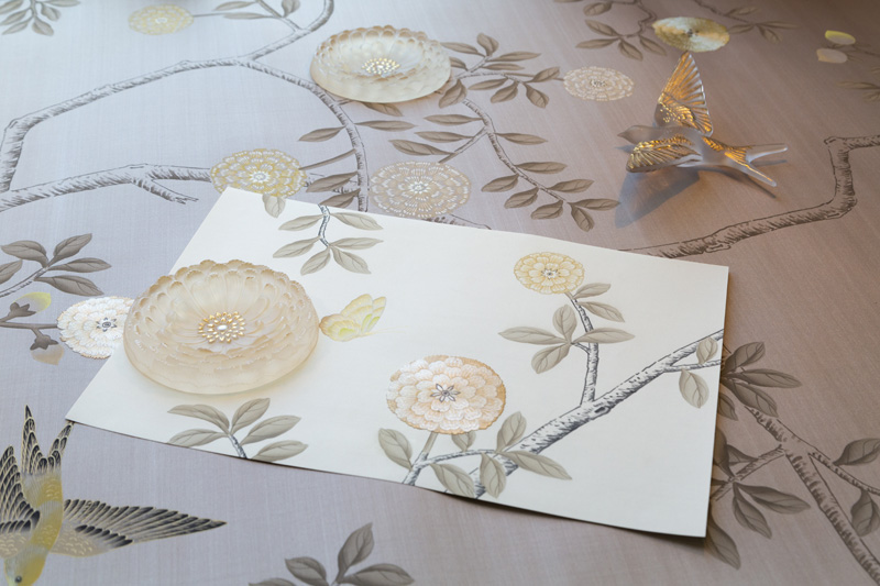 Lalique and Fromental salon art design